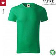 Tricou verde mediu, din bumbac organic, Native
