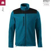 Jacheta albastru petrol, din fleece, unisex, Effect