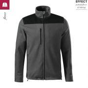 Jacheta gri metalic, din fleece, unisex, Effect