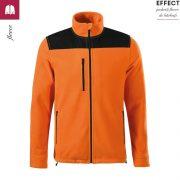 Jacheta portocalie, din fleece, unisex, Effect