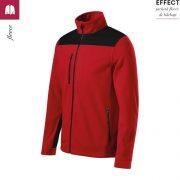 Jacheta rosie, din fleece, unisex, Effect