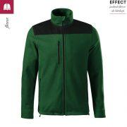 Jacheta verde sticla, din fleece, unisex, Effect