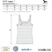 Tabel marimi Top dama Sailor